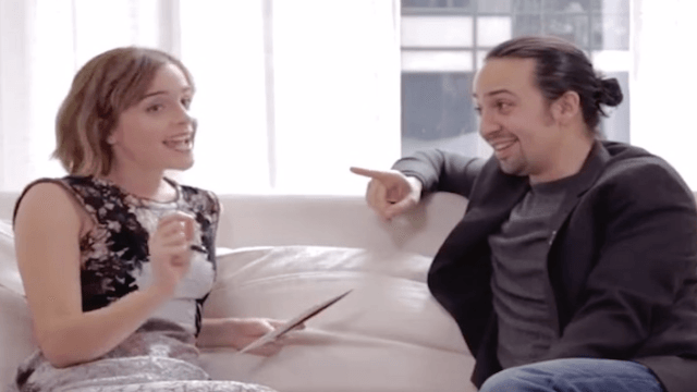 Emma Watson beatboxed so Lin-Manuel Miranda from 'Hamilton' could rap about gender equality.