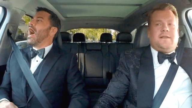 Jimmy Kimmel hitchhikes through TV's biggest shows in Emmys opening.