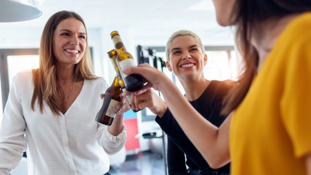 Employee asks if it's wrong to refuse to go to office happy hour if people from HR attend.