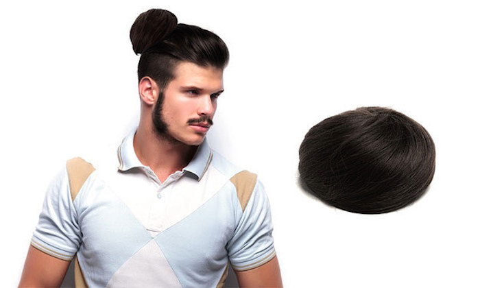 Someone thought of a way to make Man Buns even more horrible.