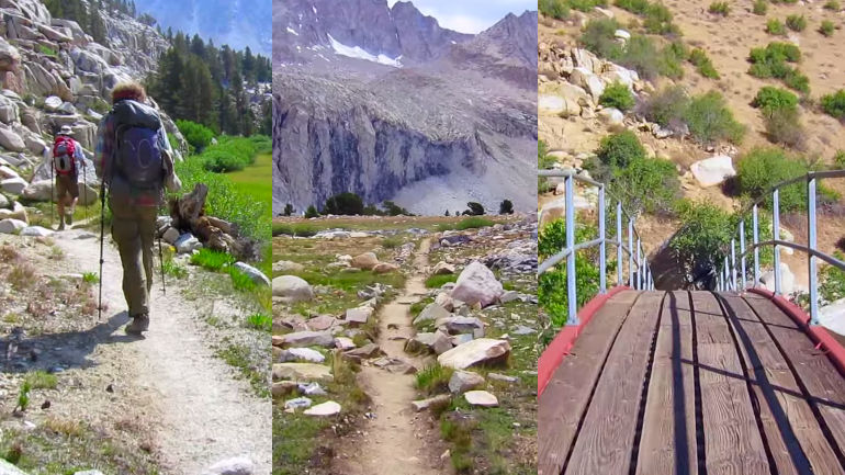 Experience the entire 2,660-mile Pacific Crest Trail in 3 minutes while sitting on your fat butt.