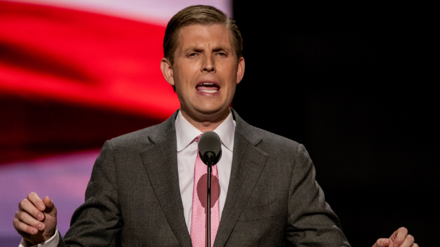 Eric Trump is hawking Christmas ornaments and they're getting roasted on an open fire.