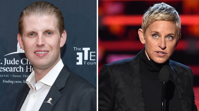 Eric Trump tweeted a government conspiracy about Ellen DeGeneres. Welcome to 2018.