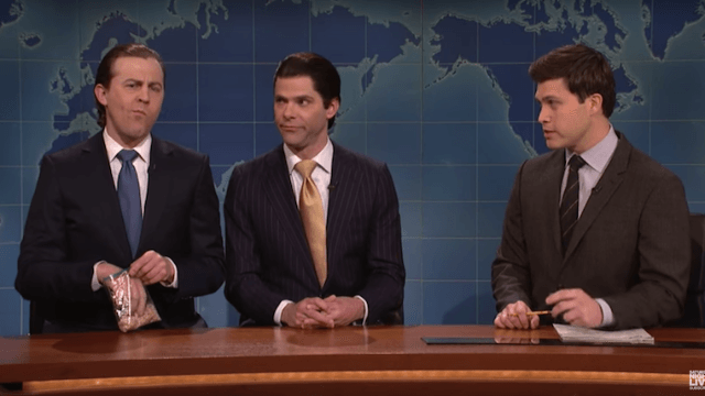 Eric Trump is a whiny toddler who spills his daddy's secrets on 'SNL' Weekend Update.