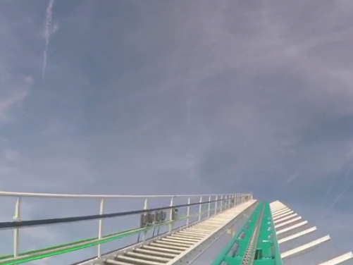 Even just watching the video of this 95 mph roller coaster is terrifying.