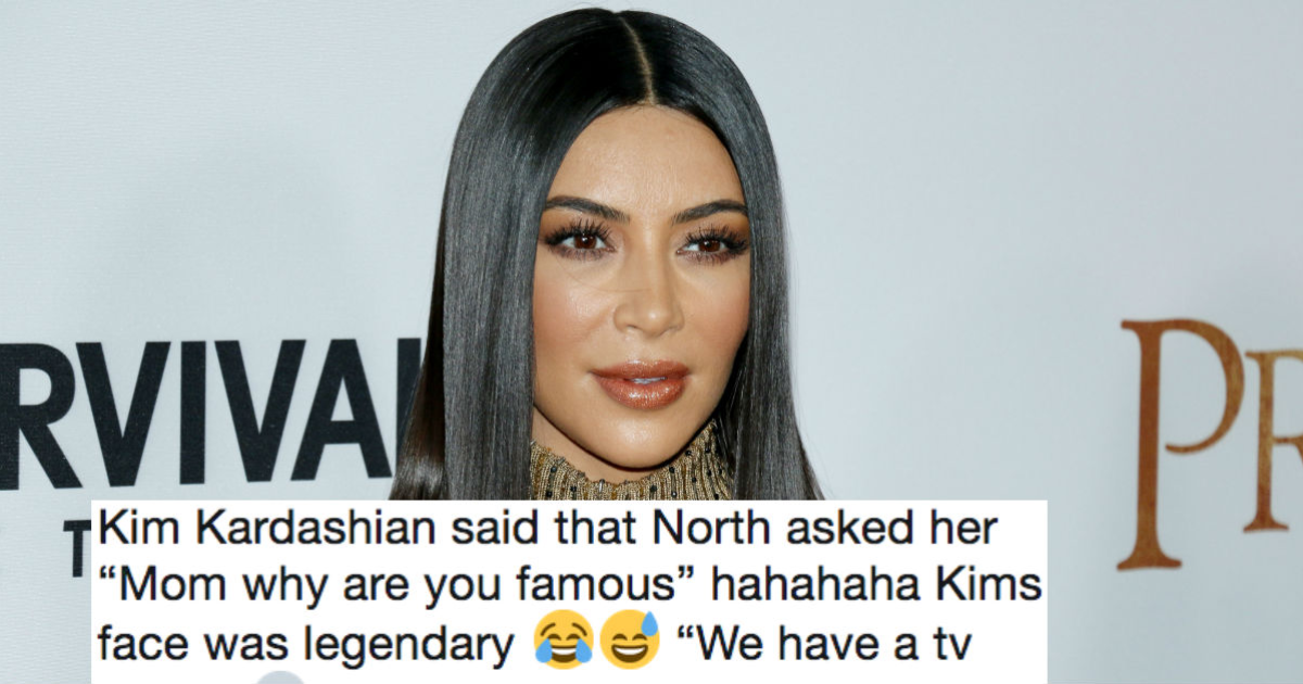 Everyone's roasting Kim Kardashian's awkward explanation to North of why they're famous.