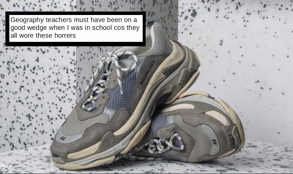 cc5a5013877 Everyone's roasting these $800 Balenciaga sneakers that look like they  belong in the trash.