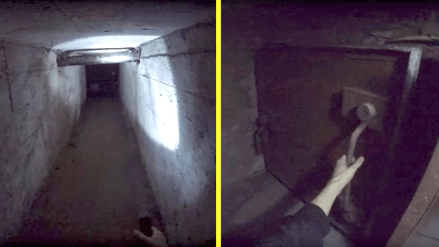 Guy exploring deep beneath a factory discovers the craziest Cold War relic you've ever seen.