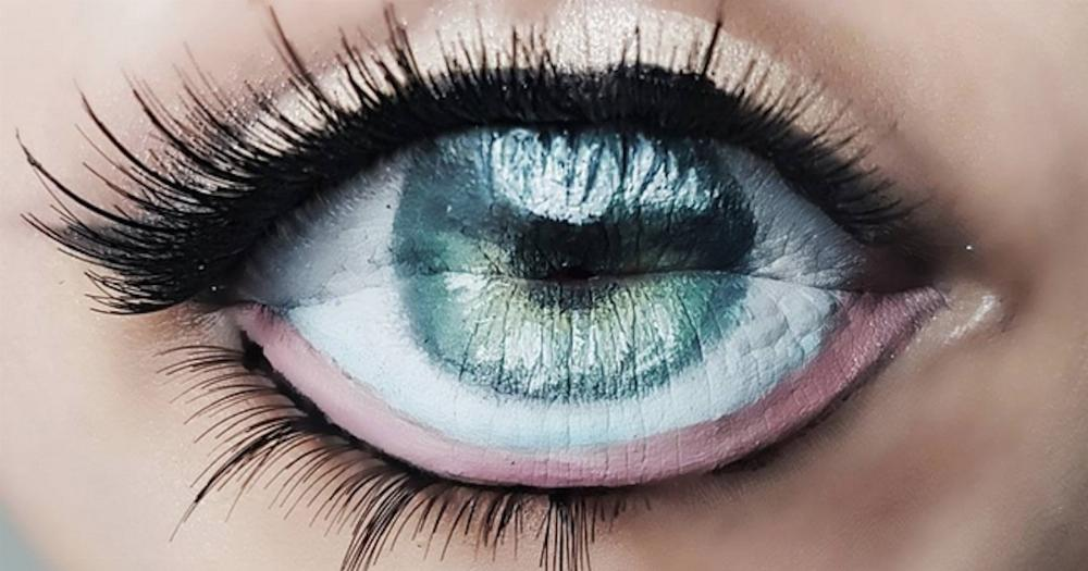 This Terrifying Eye Lip Makeup Optical Illusion Is Taking Over