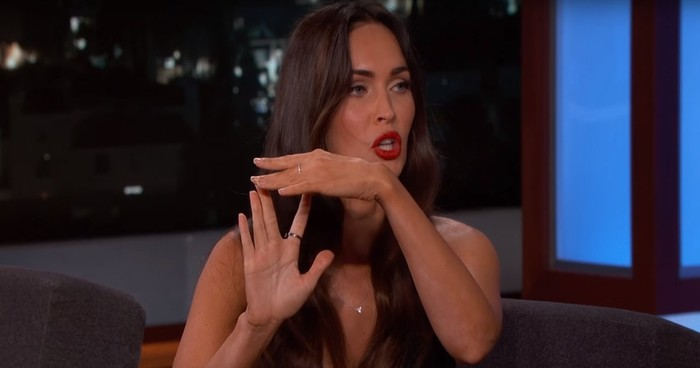 Self-proclaimed astrology expert Megan Fox reads Jimmy Kimmel's palm, and it sounds like b.s.