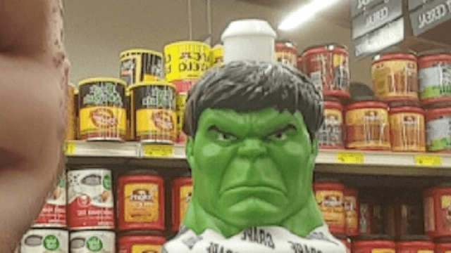 Guy tries to face swap with the Hulk and the result is more terrifying than any monster.