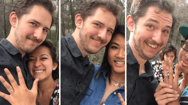 Guy's proposal is so successful he decides to do it four more times. His fiancé's less amused.