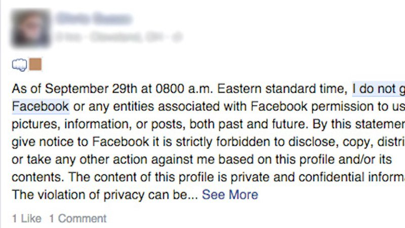 That Facebook copyright hoax from 2012 is back, and yes, it's still a hoax.