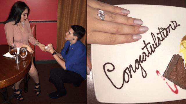 Genius teens scam restaurant for free dessert by pretending to get engaged. Twitter applauds.
