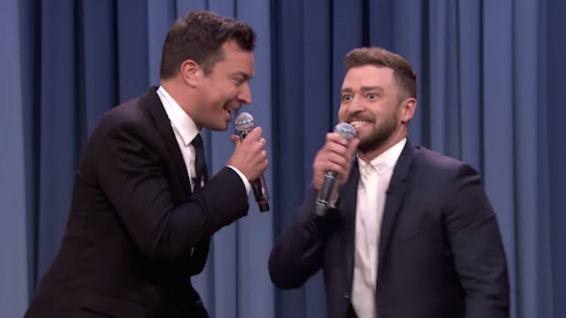 Jimmy Fallon and Justin Timberlake did another History of Rap, are almost at the present.