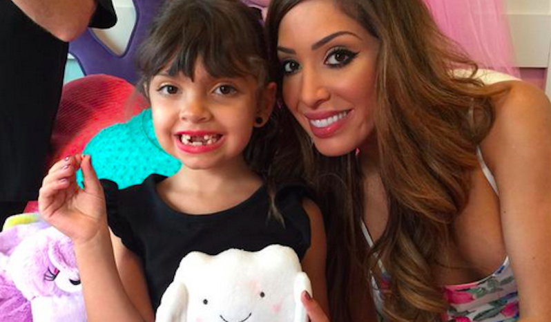 Farrah Abraham's daughter got more money than you make in a week from the Tooth Fairy.