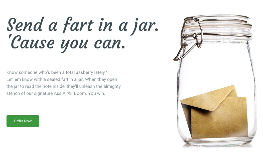 Of course there's a website that lets you send a jarred fart to someone you hate.