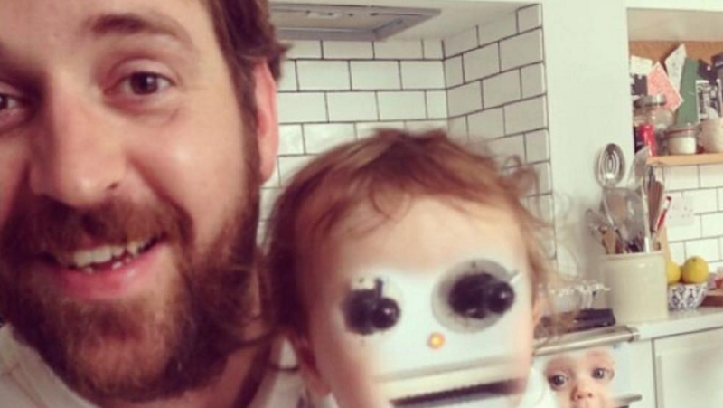 This may be the most wonderfully horrifying father-daughter face swap of all time.