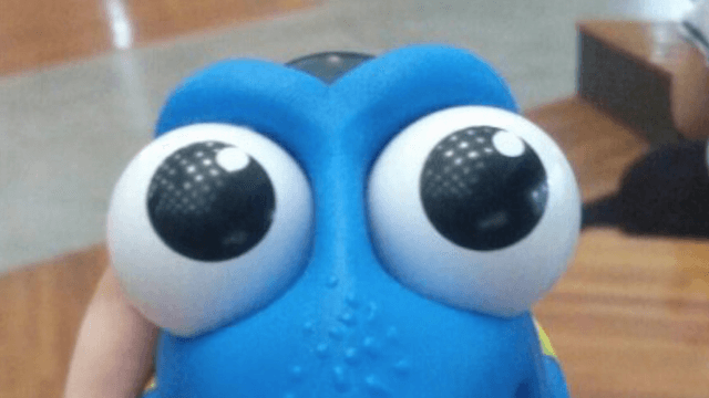 Guy discovers 'Finding Dory' night light isn't quite as cute in the dark.