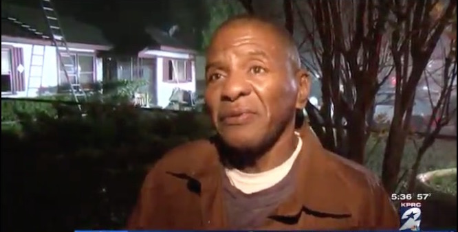 Homeless man staying with family says thanks by casually saving them from burning home.