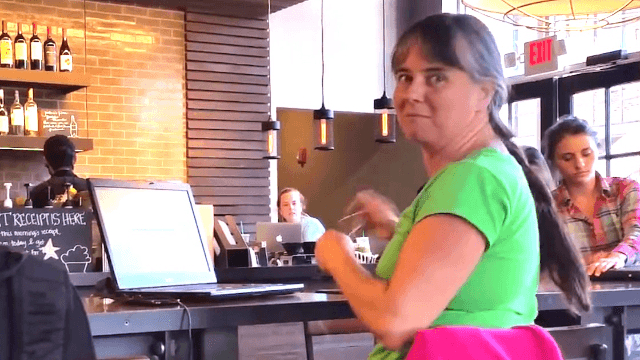 Florida Governor Rick Scott chased out of Starbucks by woman with some pretty good points.
