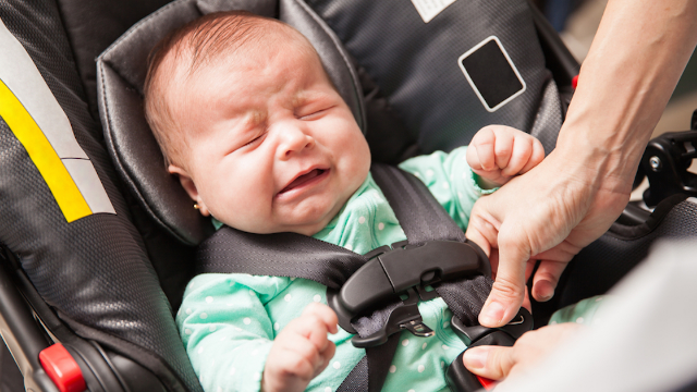 Here's what happened when a guy trying to steal a car realized there's a baby inside it.