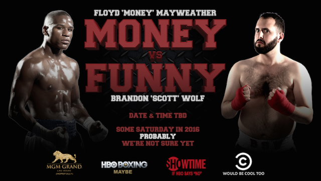 Comedian who hasn't thought this through is challenging Floyd Mayweather to a fight.