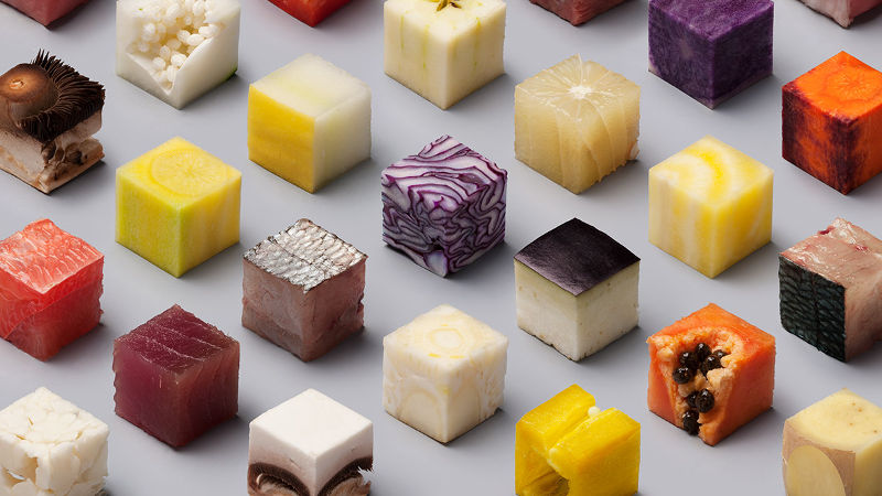 These perfectly same-sized food cubes are the most satisfying thing you'll stare at today.