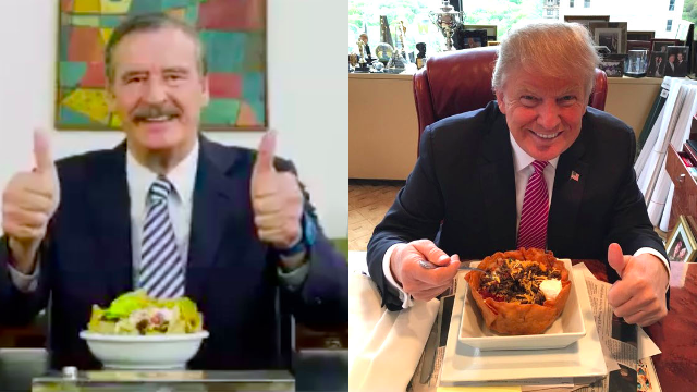 Former Mexican president hits Trump where it hurts: his taco bowls.