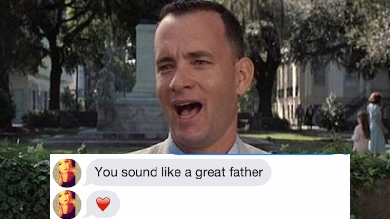 This lucky woman found love on Tinder with a guy pretending to be Forrest Gump.