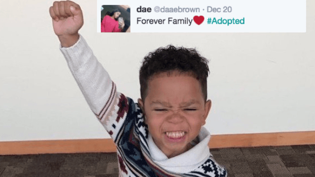 This 3-year-old foster kid's excitement at getting adopted has the internet weeping.