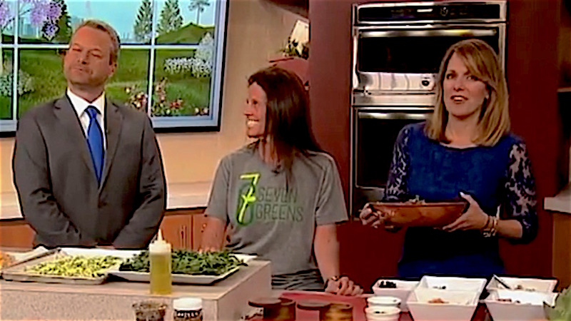 Salad company owner makes filthy salad innuendo in front of mortified news anchors.