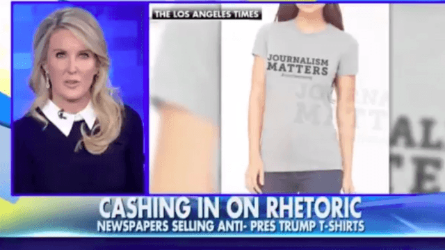 'Fox & Friends' accuses newspapers of 'anti-Trump rhetoric' for saying journalism matters.