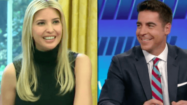 Fox News host Jesse Watters disgusts everyone with revolting comment about Ivanka Trump holding a microphone.