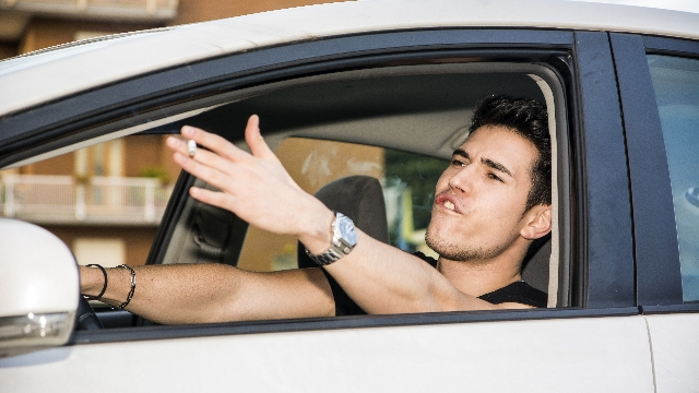 Guy gets into angry back-and-forth with friend who demands to borrow his new car for a date.