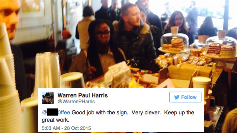 A coffee house with an 'offensive' name found a hilarious way around the censors.