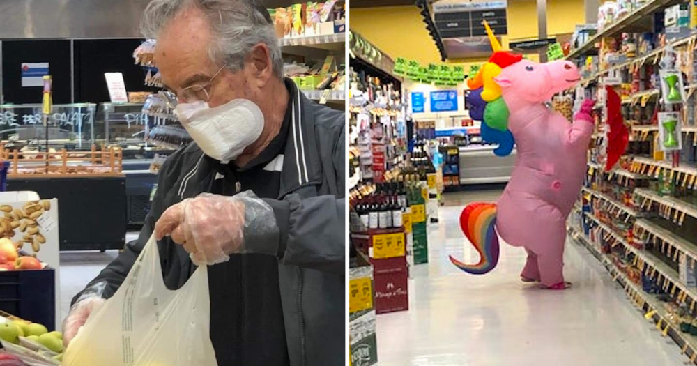 21 of the funniest DIY solutions people have used to protect themselves from coronavirus.