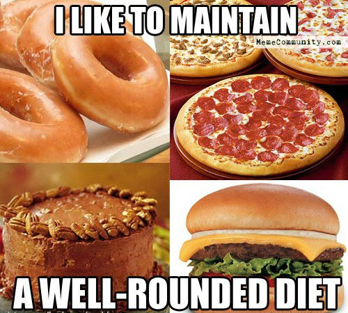 Image result for memes about junk food