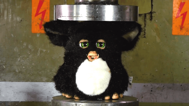 Watching a Furby get crushed in a hydraulic press will fill you with nostalgic horror.