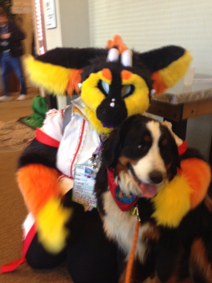"Mom thinks ""furry convention"" is for dogs, accidentally becomes the star."