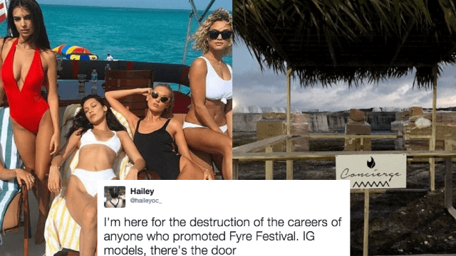 Kendall Jenner, Bella Hadid blasted for promoting the Fyre Festival that went up in flames.