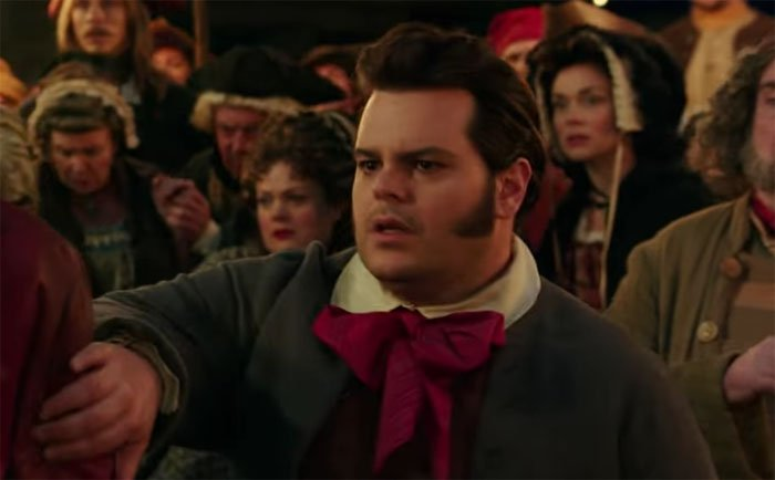 Josh Gad as LeFou, making his case for Best Sideburns in a Motion Picture.