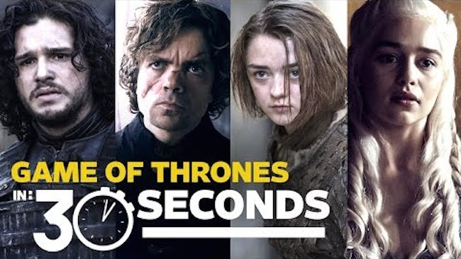 The 'Game of Thrones' cast tries (with varying success) to sum up the show in 30 seconds.