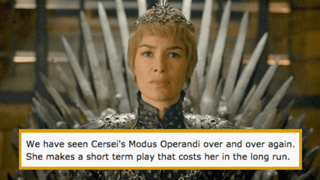 Fans think a tiny detail in Cersei's war plans may already spell her demise on 'Game of Thrones.'