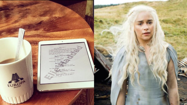 A 'Game of Thrones' actor accidentally leaked a script page in the least boring Instagram of food ever.