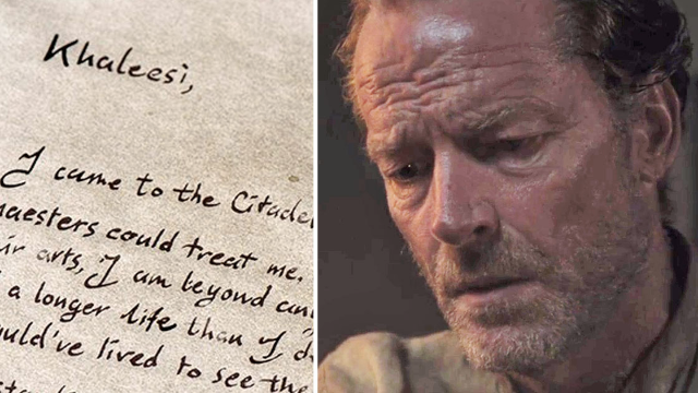 'Game of Thrones' fans are flipping out over Ser Jorah's letter to Daenerys.