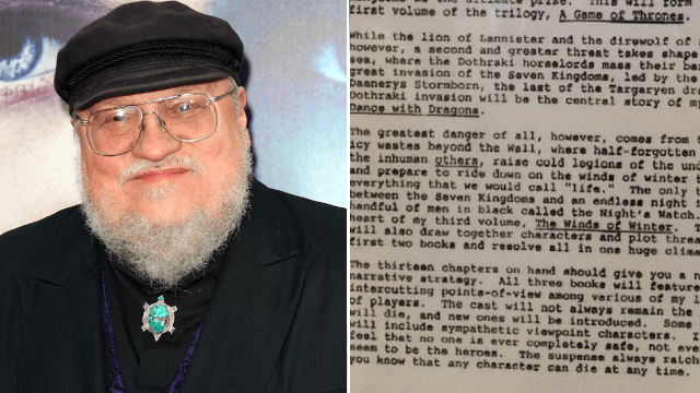 George R. R. Martin's original pitch for 'GoT' hints at the death of a main character. Brace yourself.