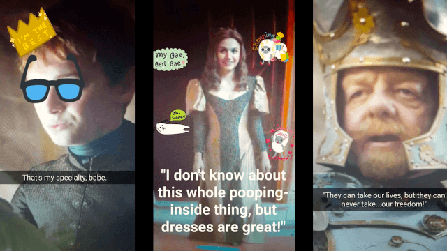 If 'Game of Thrones' took place entirely on Snapchat - Season 6, Episode 6: 'Blood of My Blood.'