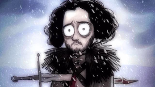 'Game of Thrones' drawn Tim Burton-style makes Joffrey even creepier.