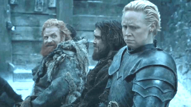 GoT's Tormund hilariously stayed committed to ogling Brienne between takes.